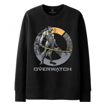 OW Overwatch Symmetra sudadera para hombre negro con capucha