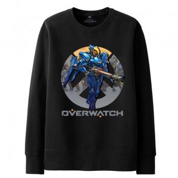 Overwatch Pharah sudadera para hombre negro con capucha