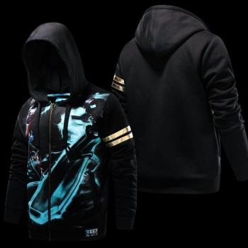 LOL Ekko Hoodies Black 3D Sweatshirt For Mens