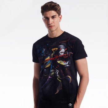 Limited Editon Blizzard Overwatch Oni Gengi Mask T-shirts Black Mens Boys Tee