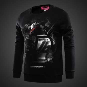Overwatch Soldier 76 Sweatshirt Mens black Hoodies