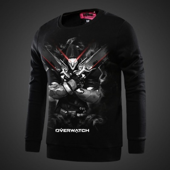 Overwatch Genji Sweatshirts black Hoodie For Mens