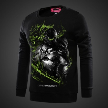 Overwatch Genji Sweat Shirt black Hoodies For Boy