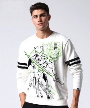 Overwatch Genji Sweatshirt Men White Hoodies