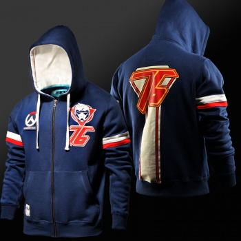 Overwatch Soldier 76 Sweatshirts Men Blue Hoodie