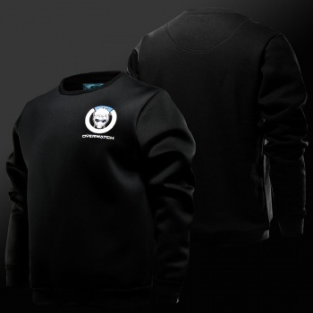Overwatch Logo Soldier 76 Hoodies Mens Black OW Hero Sweatshirts