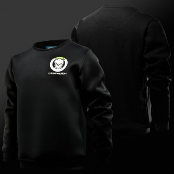 Overwatch Genji Hero Hoodies Blizzar OW Game Black Sweatshirts