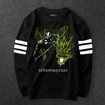 Overwatch Genji Hoodie black Blizzard OW Sweatshirts For Mens