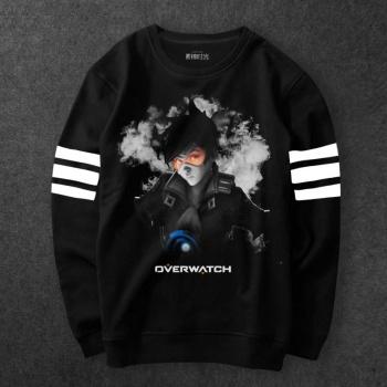 Overwatch Tracer Hoodies Mens Boys Black OW Game Sweatshirt