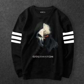 Overwatch Reaper Sweatshirts Men Black Blizzard Game Hoodie