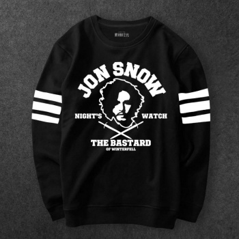 A Game Of Thrones Jon Snow Hoodie Mens Black Sweatshirts