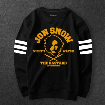 Games Of Thrones Jon Snow Sweatshirt Men Black Hoodies
