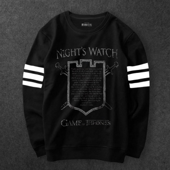 Game of Thrones Night Watch Man Oath Hoody Black Sweat Shirt For Boys