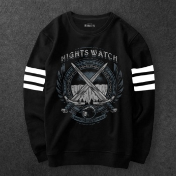 Night Watch Sweat Shirt Mens Black A Song Of Ice And Fire Hoodies