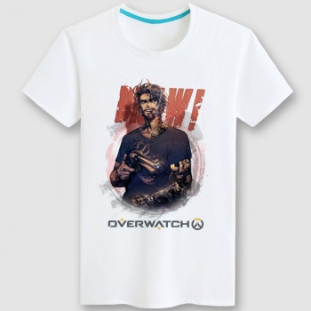 Overwatch OW Mccree Tee Couples white Tshirt