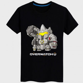Overwatch Reinhardt Shirts Mens black T-shirt