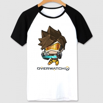 Cartoon Overwatch Tracer Shirt Women white Tshirts
