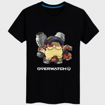 Lovely Overwatch Torbjorn Hero Tee Boys black Tshirt