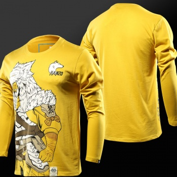 Overwatch Long Sleeve T-shirts Hanzo VS Genji Tees For Mens Boys