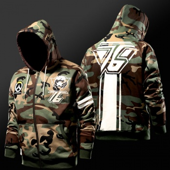 Overwatch Soldier 76 Hoodies Winter Army Green Sweatshirt For Mens